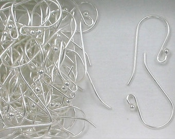 Sterling Silver French Hook w/ Ball Ear Wires, Choice of Lot Size & Price