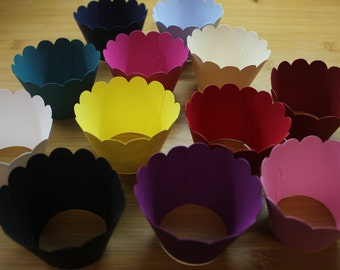 12 Cupcake Wrappers, Various Colours Available