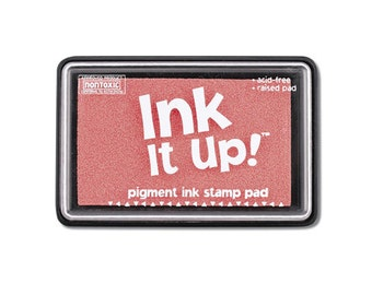 Pink Ink It Up Pigment Ink Stamp Pad Scrapbooking or Card Making birthday cards crafts papercrafting rubber embossing stamping