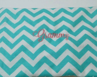 Chevron Corn Bag, Heating Pad, Hot Cold Pack, Microwaveable Heat Pack, Monogrammed Gift, Valentine's Day Gift, New Mom Gift, Gift for Hernt