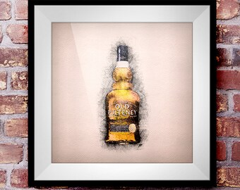 Old Pulteney 17 - Crosshatch Whisky Wall Art