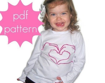 Classic Knit Tee PDF Sewing Pattern - short, 3/4, long sleeve options - nb-5t or 6-14 and doll/preemie