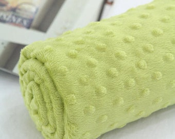 Minky Dimple Dot - Green - By the Yard 43055 Melody Series