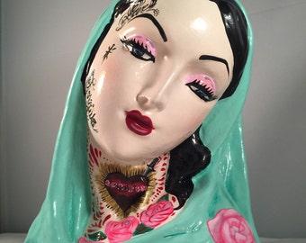 Virgin Mary Tattoo Flash sculpture