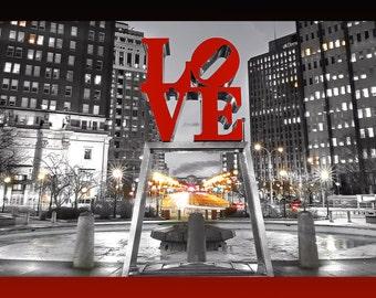 Philadelphia Love Park (20x60) Panoramic