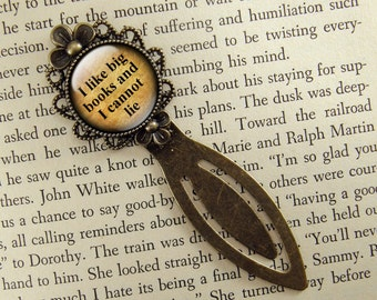 I Like Big Books And I Cannot Lie Bookmark, Bronze Bookmark, Book Lover, Book Accessories, Ready Ship, Clip Bookmark, Book Gift, Small Gift
