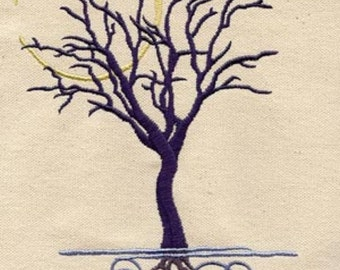 Tranquility Tree Embroidered Flour Sack Hand/Dish Towel