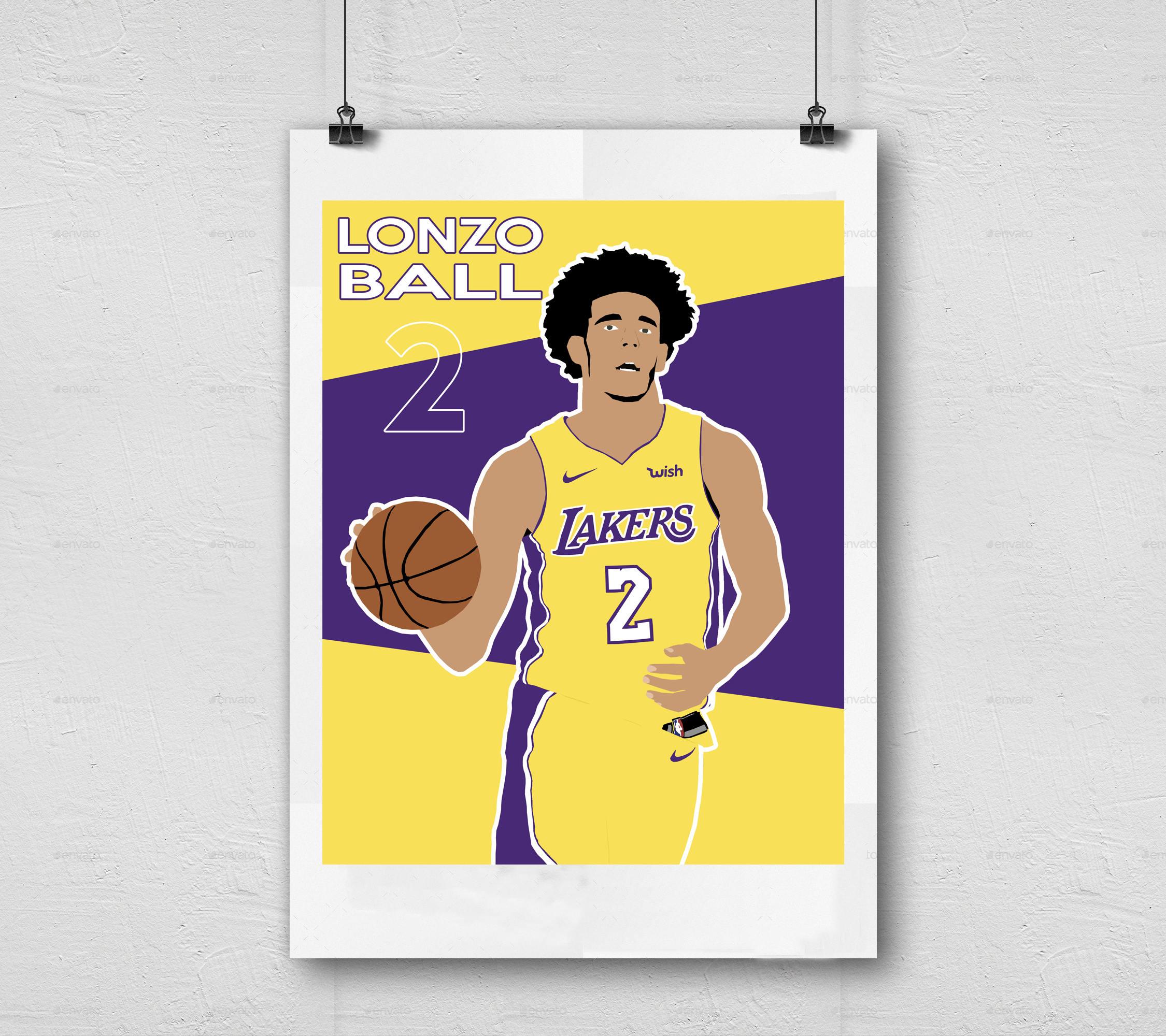 Lonzo Ball Los Angeles Lakers NBA Basketball Printable