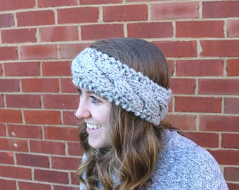 Handknit Cable Ear Warmer, Cable Knit Headband