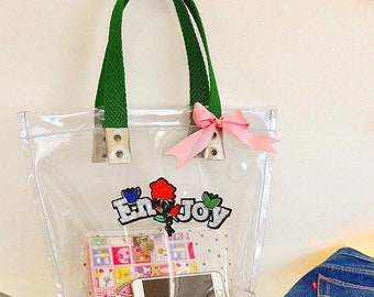 Clear transparent tote bag super
