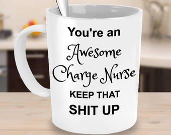 Charge Nurse Gift - Nursing Coffee Mug - Funny Nurse Mug - Nurse Coffee Mug - Funny Nurse Mug - Nursing Student Mug - You're Awesome Gift