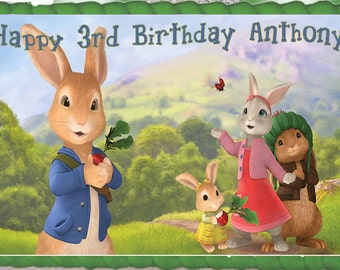 Peter Rabbit Edible Cake Topper with FREE Personalization