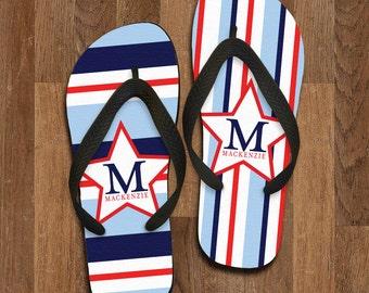 Personalized Flip Flops, Custom Wedding Flip Flops, Wedding Flip Flop, Monogrammed Flip Flops, Custom, Personalized Name Sandals, 148FF