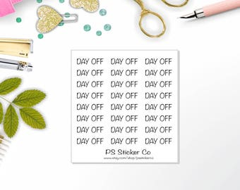 Planner Stickers - Day Off Stickers - Lazy Day Stickers - Travelers Notebook - 114