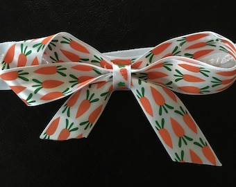 Easter Carrot Hair Bow Headband