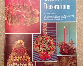 """VINTAGE 1967 """"Making Christmas Decorations"""" by Gene Taylor  - Christmas Book / Vintage Decorating / Holiday Decorating / Vintage Christmas"""