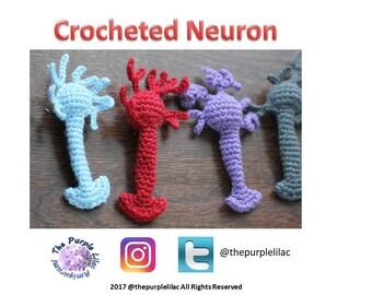 Crocheted Neuron Pattern, Crochet pattern, Sciency Crochet