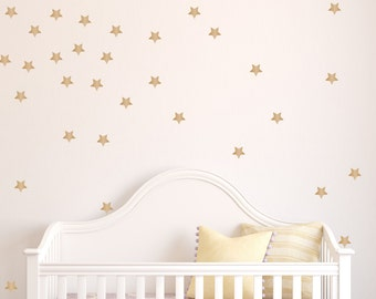 Star Decals - Peel And Stick Removable Wallpaper Wall Decals - Set Of 100 - Stars - Wall Decals - Stars