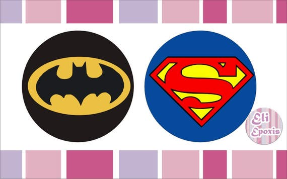 Instant download printable kit printable superheroes logo stickers decorations for your birthday for your bedroom decor
