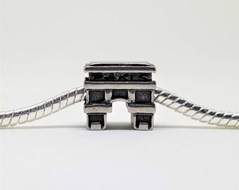 Silver Arc de TriompheCharm for European Bracelets (item 055)