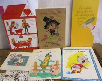 Vintage Cards Humorous paper emperham 6 different