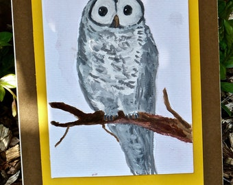 Oliver the Owl Hand-made Art Print