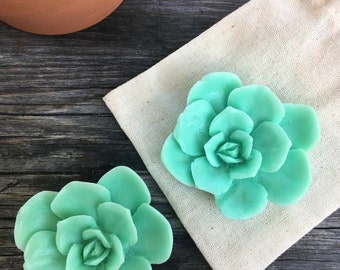 SUCCULENT SOAP (set of 2) | handmade goat's milk soap with rosemary essential oil