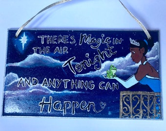 Disney Princess and the frog quote plaque