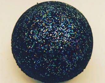 5 Mini Black Glitter Bombs ~ Black Glitter Bath Fizzy