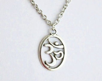 Om Necklace, Aum Necklace, Ohm, Yoga Necklace, Yoga Jewelry, Meditation Gift, Teacher Gift, Instructor Gift, BFF Gift, Best Friend Gift