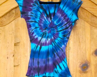 Twisted Front Tie Dye Tee