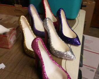 Glitter Wine Holder Shoes