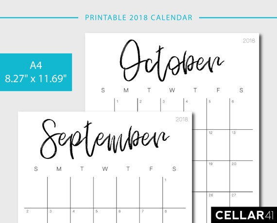 Calendar A Printable Calendar Monthly Planner Monthly