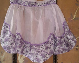 70s sheer lilac apron