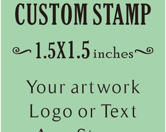 Custom Stamp, Custom Logo Stamp, Wedding Stamp, Business Card Stamp,custom return address stamp, Craft 1.5x1.5inches