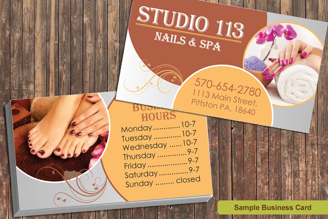 Nail Salon Business Cards