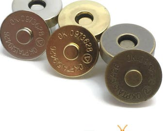 Magnetic snaps clasps fastenings - purses handbags craft buttons - 18mm or 14mm