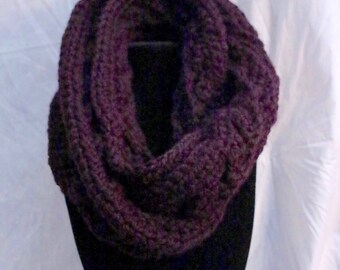 Super Bulky Celtic Basketweave Double Wrap Infinity Scarf