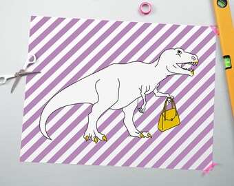 Dainty T-rex poster