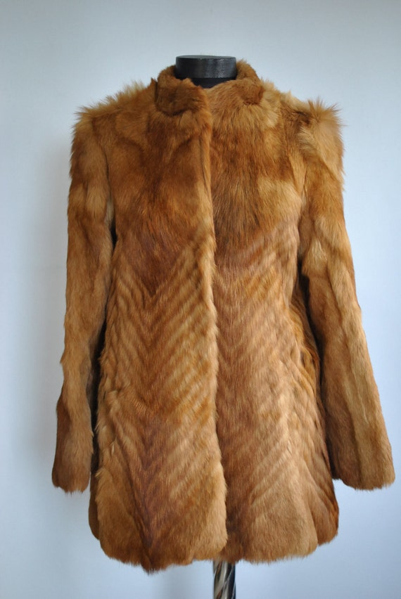 coat FOX women's glamorous COAT Vintage FUR fur 278 7ZwYwqv