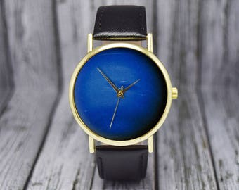 Neptune Watch | Planet Watch | Space | Leather Watch | Ladies Watch | Men's Watch | Gift Ideas | Birthday | Wedding | Fashion Accessories