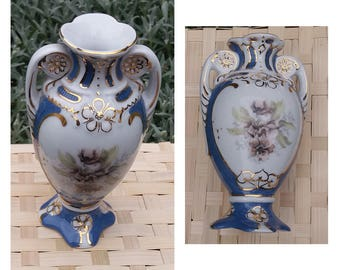 Antique vase, porcelain vase Royal Dux Bohemia, vase for flowers, decorative vase, Czechoslovakia 1950, video - https://youtu.be/DmtpmRajras