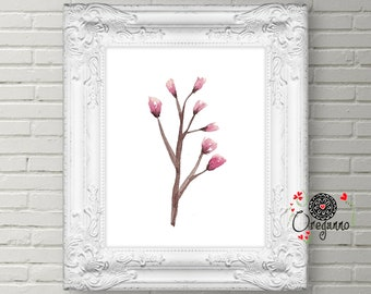 Woodland Nursery Decor wall art-Baby Woodland Branch print-printable Nursery Animals set-Girl Woodland Nursery-Baby Girl Nursery Wall Art
