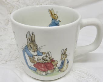 Wedgwood Peter Rabbit Baby Mug, Beatrix Potter Designs, Wedgwood of Etruria & Barlaston, Baby Shower, Christening Gift, Toddler Birthday