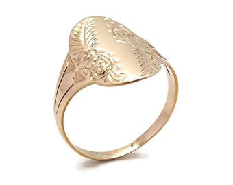 Yellow Gold Floral Ring, Womens Gold Ring, Yellow Gold Rings, Gold Rings Women, Womens Ring, Gold Floral Ring, Floral Jewellery, Large Ring