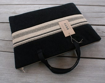 Laptop Sleeve Case Cover for 13 inch Macbook/handles/ zipper/ tapestry/cotton