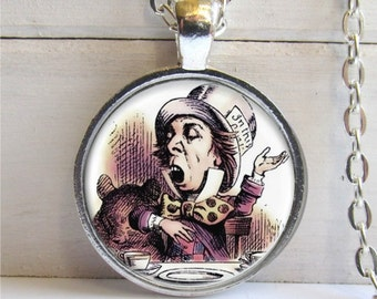 Mad Hatter Pendant. Alice In Wonderland Jewelry