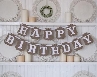 HAPPY BIRTHDAY  Banner, Birthday Party Sign, Happy Birthday Sign, Sweet 16, Baby's First Birthday, 40th Birthday, 50th Birthday