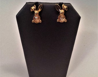 Avon Bunny Earrings, Earrings, Animal Lover Gift, Spring Earrings, Bunny Jewelry, Vintage Jewelry, Gifts for Her, Easter, Easter Jewelry