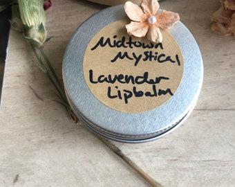 Homemade Lavender lip balm 1 oz, herbal, Apothecary